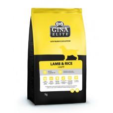 "Корм Gina Elite для малоактивных собак ""Lamb & Rice Light"""