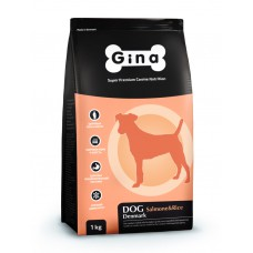 "Корм Gina для взрослых собак ""Dog Salmone & Rice"""