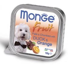 Корм Monge Fruit для собак паштет с уткой и апельсином