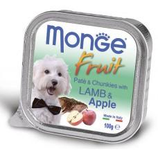Корм Monge Fruit для собак паштет с ягнёнком и яблоком