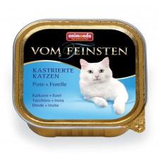 Паштет для кастрированных кошек с индейкой и форелью