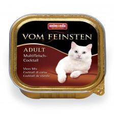 Паштет для кошек коктейль из разных сортов мяса