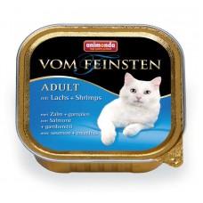 Паштет для кошек с лососем и креветками