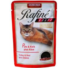 Паучи для кошек с индейкой, телятиной и сыром