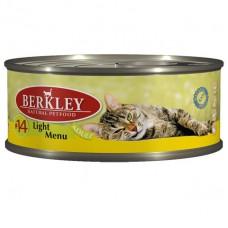 Berkley №14 консервы лайт для кошек с телятиной и кроликом