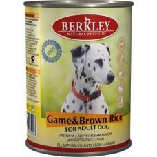 """Консервы для собак Berkley """"Оленина с коричневым рисом"""""""
