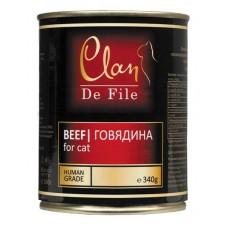 Clan De File консервы для кошек с говядиной