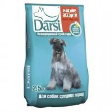 """Корм Darsi для собак средних пород """"Мясное ассорти"""""""