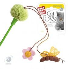 Gigwi дразнилка для кошек с пчелкой и цветком