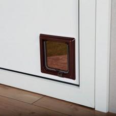 Дверца для кошек и мелких собак маленькая коричневая