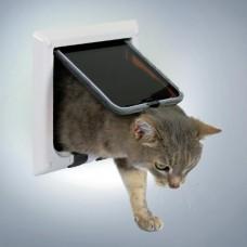 Дверца для кошек и мелких собак белая, 4 позиции