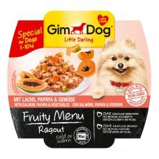 Корм Gimdog Frutty для собак рагу с лососем, папайей и овощами
