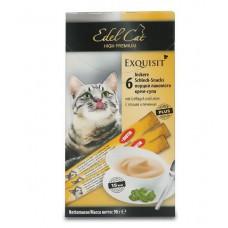 Edel Cat лакомство крем-суп с птицей и печенью