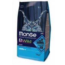 Корм Monge Bwild для взрослых кошек с анчоусами