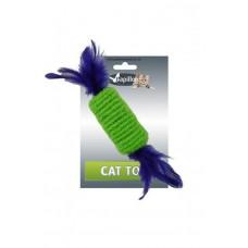 """Игрушка для кошек """"Рулет с перьями"""" 10см"""
