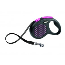 Flexi Design M-L рулетка-ремень для собак розовая 5м/50кг